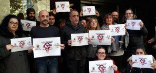 Concentración protesta No a los 187 despidos en Qualytel Sevilla.